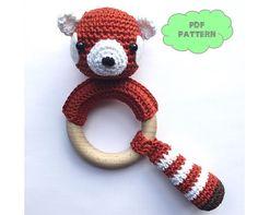 CROCHET PATTERN rattle red panda by KNUFL on Etsy