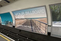 Various public transport advertising photos mockups featured on PitchStock.