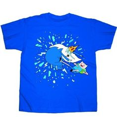 Adventure Time Finn Vs Ice King T-Shirt: Amazon.co.uk: Clothing