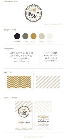 Sweet Harvey Branding by Brandi Powell.  || style guide || brand board || identity