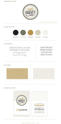 Sweet Harvey Branding by Brandi Powell.  || style guide || brand board || identity