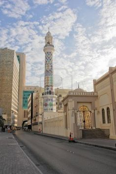 A mosque in Manama City Center, Bahrain. City Center Bahrain is the first and biggest mixed-use development in Bahrain offering the best shopping, leisure and entertainment experience to its customers.