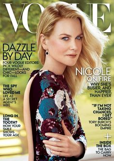 Nicole Kidman, by Patrick Demarchelier,  Vogue August 2015