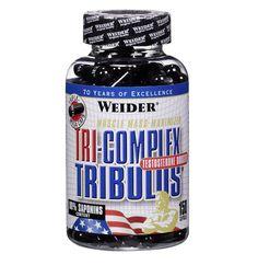 TRI-Complex Tribulus - 150caps  Formula natural a base de 3 plantas esenciales para  la producción de testosterona. Potente mezcla energética de plantas Tribulus,Maca y Yam.  ANABÓLICO Natural  Aumenta la produccion de testosterona de manera natural,efectiva y rapida Mejora tu rendimiento físico y aumenta la intensidad de tus entrenamientos. Aumenta el tamaño de tus músculos y la fuerza muscular de una forma natural. Ayuda a la funcion erectil masculina y a mantener buenos niveles…