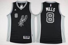 df658976f19 San Antonio Spurs  8 Patty Mills Black Jersey