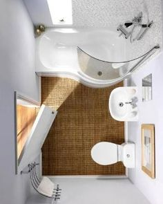 25 Small Bathroom Remodeling Ideas Creating Modern Bathrooms and Increasing Home Values -  I WANT THAT TUBE/SHOWER PICTURED. It just like my bathroom with the window where you sit. Now to find the make and model. by BBlondy