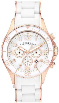 #womens #jewelry #watches Marc by Marc Jacobs Rock Chronograph Silicone Ladies Watch MBM2547