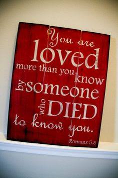 Scripture Art Wooden Sign Romans 58 choose your by allisonhoopes, $65.00