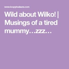 Wild about Wilko!   Musings of a tired mummy…zzz…