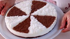Torta Fredda Cocco e Cioccolato Ricetta Facile Senza Cottura - No Bake C...