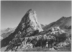 Fin Dome, Kings River Canyon, California by Ansel Adams