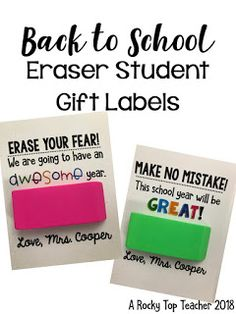 "A Rocky Top Teacher: Back to School Welcome Gift for Students ""make no mistake! You're awesome"" if it's another time of year gift. Back To School Night, Back To School Teacher, 1st Day Of School, Beginning Of The School Year, School Classroom, School Fun, Back To School Gifts For Kids, Middle School, High School"
