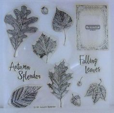 Autumn Splendor Clear Acrylic  Stamps by CTMH  by SuperCraftyLady, $15.00