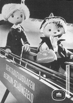 1963, Sandmann als Interflug-Passagier