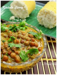 Kadala Curry - delicious #chickpeas #curry cooked in coconut gravy!