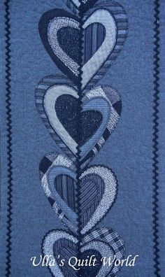 Ulla's Quilt World: Table runner and carpet for the rocking chair, quilt