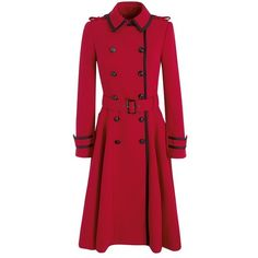 Jonathan Saunders Red Fit and Flare Coat Red Winter Coat, Winter Coats Women, Coats For Women, Pop Star Costumes, Fit And Flare Coat, Stylish Coat, Workwear Fashion, Langer Mantel, New Wardrobe