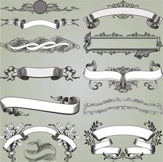 1 Ribbon clip bw art print design