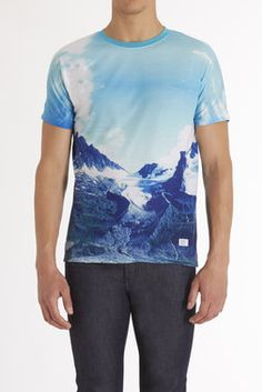 I would want it as a v neck. Glacier Sublimation Tee - Akomplice - Tees + Tanks : JackThreads