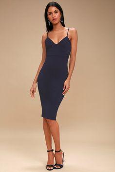 7b59b33269b Everyday VIP Navy Belted Ruched Midi Dress - 8 | Pretty dresses ...