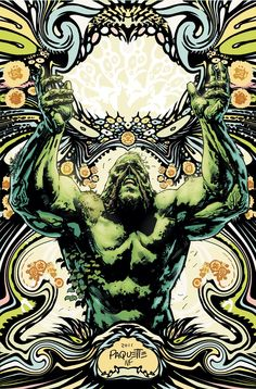 Yanick Paquette's cover to Swamp Thing #7. How awesome is this?!