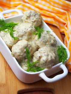 Szefowa w swojej kuchni. ;-): Pulpety w sosie koperkowo-miodowo-musztardowym Food Design, Food And Drink, Chicken, Meat, Cubs