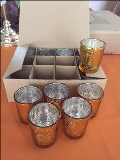 Gold Mercury Votive Holders - Qty. in stock: 24