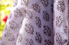 Indian Hand block printed sheer silk cotton by FabricTreasury, $17.75