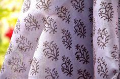 Indian Hand block printed sheer silk cotton by FabricTreasury, $17.75