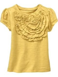 Love yellow right now. Tiered-Ruffle Rosette Tops for Baby | Old Navy