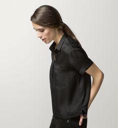 CAMISA BOLSILLOS 100% SEDA - Lisas - Camisas y Blusas - WOMEN - España - Massimo Dutti
