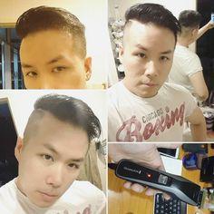 ทรง HR Wells ตดผมเองมา 2 ปแลวครบ  ใชของ remington มอนงละ ใหแฟนเอามดโกนปาดใหดวย แฮปปกบทรงนเลย   HR Wells hairstyle. I have been self haircutting for 2 years already.  #remington #hrwells #theflash #selfhaircut #diy #menshair #menshaircut #haircut #selfmade #frugal #frugalliving #selfdependent #asianhair #instaman