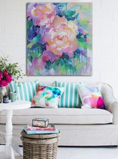 Home Living Room, Living Room Designs, Living Room Decor, Cottage Living, Cozy Living, Living Area, Estilo Kitsch, Colourful Living Room, Home And Deco