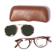 Garrett Leight Hampton Optical + Clip Chestnut Glasses Sunglasses Clip On