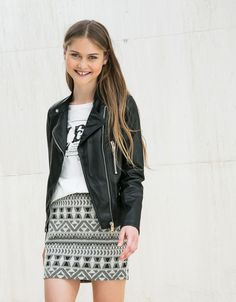 Bershka Colombia - BSK biker jacket with mandarin collar