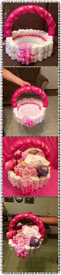 My first time making diaper basket