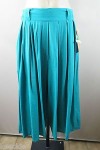 Size L 14 Ladies Green Pants Culottes Casual Boho Hippie Loose Chic Design | eBay