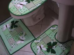 jogos de banheiro em tecido com borboletas - Pesquisa Google