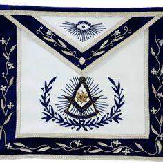 Masonic Regalia Past Master Apron Masonic Past Master Map Apron MM Apron