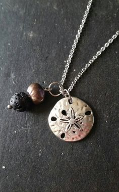 Essential Oil Necklace Diffuser  Lava Rock by AuraStrands on Etsy