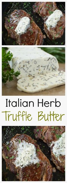 Easy to make Italian Herb Truffle Butter that tastes great on any savory dish! Truffle Butter, Truffle Cheese, Truffle Sauce, Truffle Oil, Butter Dish, Flavoured Butter, Butter Bell, Butter Cheese, Herb Butter