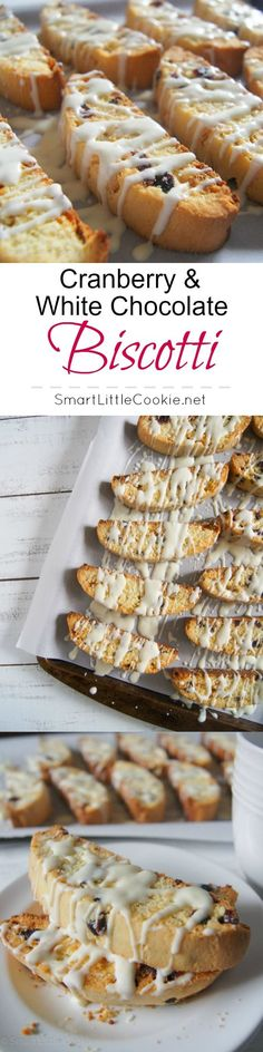 Cranberry & White Chocolate Biscotti - Sweet and crunchy, with the tangyness of the cranberry and a hint of orange citrus, these biscotti are sure to make anyone drool. | SmartLittleCookie.net