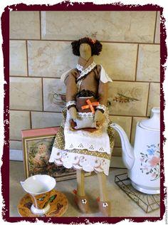 Купить Кукла в стиле Тильда Кофейный Ангел 2 - коричневый, кофейный, кофе, кухня