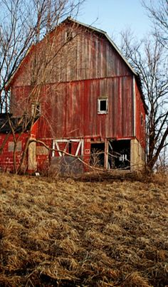 This reminds me of one of my Grandpa's barns.