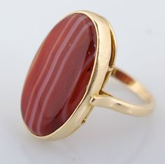 Yellow Gold Agate Chalcedony Ring for auction. Please see attached appraisal image for more information. Agate, Gemstone Rings, Auction, Canada, Yellow, Gold, Jewelry, Jewlery, Bijoux