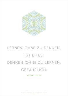 Konfuzius - Zitat No. 2 Postkarten Set 3: Lernen, ohne zu denken, ist eitel; Denken, ohne zu lernen, gefährlich.