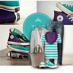 """Converse Spring Colors"" by archimedes16 on Polyvore"