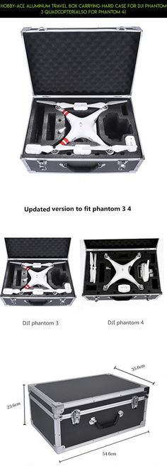 Hobby-Ace Aluminum Travel Box Carrying Hard Case for DJI Phantom 3 Quadcopter(also for Phantom 4) #standard #dji #3 #gadgets #case #camera #fpv #racing #phantom #parts #kit #shopping #hard #technology #drone #products #plans #tech