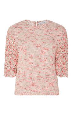 Abigail Silk Hand Crocheted Top by SPENCER VLADIMIR Now Available on Moda Operandi