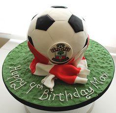 saints football cake by Jill The Cakemaker, via Flickr